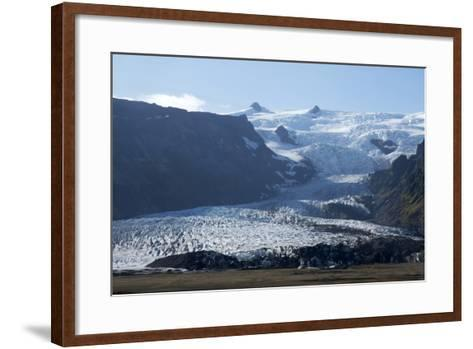 A Landscape View of a Glacier. With Snow Covered Mountains in the Background-Natalie Tepper-Framed Art Print