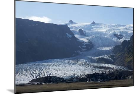 A Landscape View of a Glacier. With Snow Covered Mountains in the Background-Natalie Tepper-Mounted Photo