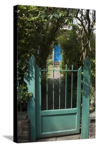 Front Gates with a Path Leading to a Blue Door, of a Residential House-Natalie Tepper-Stretched Canvas Print