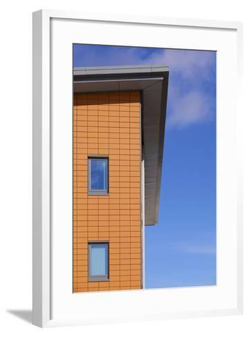 High Section of Yate West Gate Health Centre, South Gloucestershire, UK-Craig Auckland-Framed Art Print