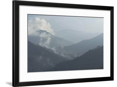 View of the Valley from Hacienda El Caney (Plantation) in the Coffee-Growing Region Colombia-Natalie Tepper-Framed Art Print