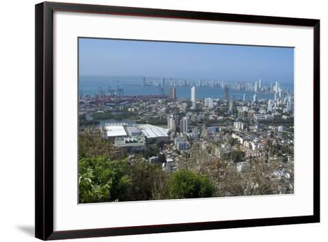 View over the Modern City from the Convento Santa Cruz La Popa, Cartagena, Colombia-Natalie Tepper-Framed Art Print