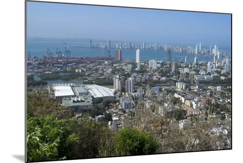 View over the Modern City from the Convento Santa Cruz La Popa, Cartagena, Colombia-Natalie Tepper-Mounted Photo