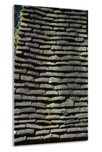 Detail of Rough Grey Vernacular Roof Tiles-Natalie Tepper-Metal Print