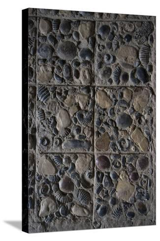 Pavement Made from Fossils, Convento Santo Ecce Homo, Near Villa De Leyva, Colombia-Natalie Tepper-Stretched Canvas Print