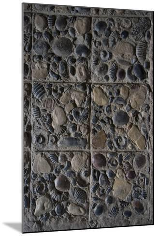 Pavement Made from Fossils, Convento Santo Ecce Homo, Near Villa De Leyva, Colombia-Natalie Tepper-Mounted Photo