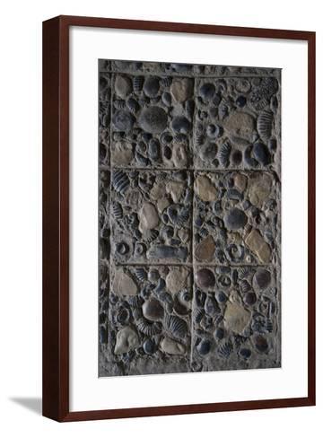 Pavement Made from Fossils, Convento Santo Ecce Homo, Near Villa De Leyva, Colombia-Natalie Tepper-Framed Art Print