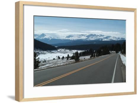 Tennessee Pass, a Mountain Road That Crosses the Continental Divide, Colorado, Usa-Natalie Tepper-Framed Art Print