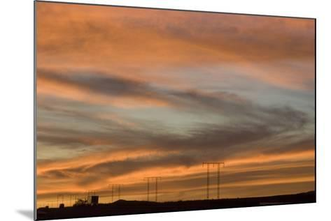 Sunset, Los Angeles to Las Vegas Freeway-Natalie Tepper-Mounted Photo