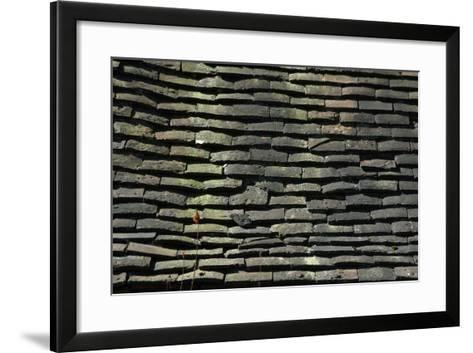 Detail of Rough Grey Vernacular Roof Tiles-Natalie Tepper-Framed Art Print