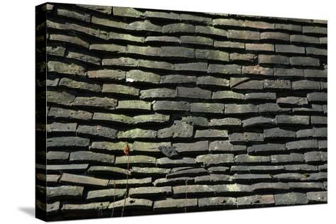 Detail of Rough Grey Vernacular Roof Tiles-Natalie Tepper-Stretched Canvas Print