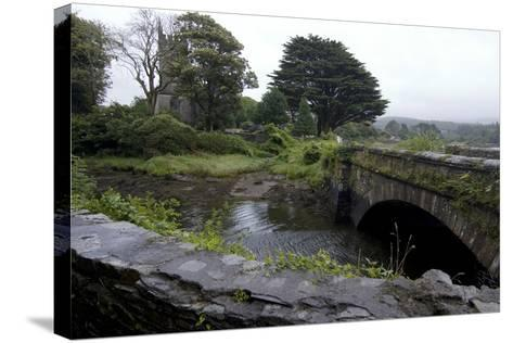 Bridge and Church Near the Sea, Near Schull, County Cork, Ireland-Natalie Tepper-Stretched Canvas Print