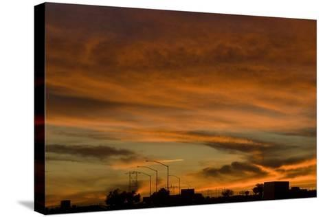 Sunset, Los Angeles to Las Vegas Freeway-Natalie Tepper-Stretched Canvas Print