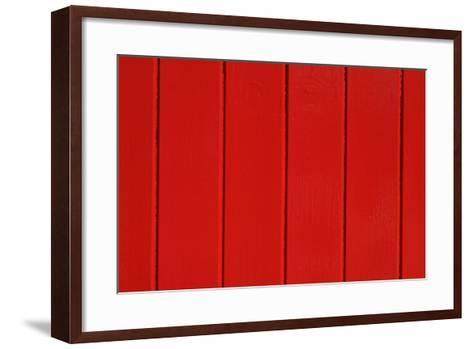 Close Up of a Red Painted Timber Building-Natalie Tepper-Framed Art Print