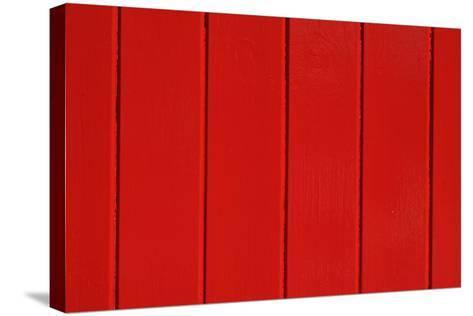 Close Up of a Red Painted Timber Building-Natalie Tepper-Stretched Canvas Print