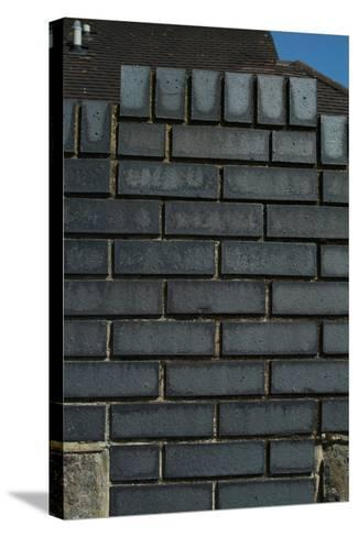 Close Up of a Grey Engineering Brick Wall-Natalie Tepper-Stretched Canvas Print