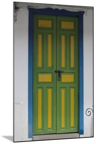 Painted Doorway in the Town of Salento, in the Coffee Growing Region, Colombia-Natalie Tepper-Mounted Photo