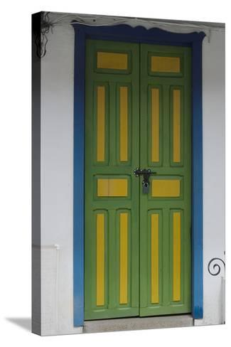 Painted Doorway in the Town of Salento, in the Coffee Growing Region, Colombia-Natalie Tepper-Stretched Canvas Print