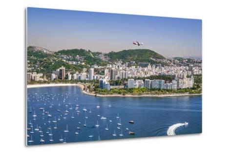 Brazil,Rio De Janeiro. Rio De Janeiro City Viewed from Sugar Loaf Mountain-Nigel Pavitt-Metal Print
