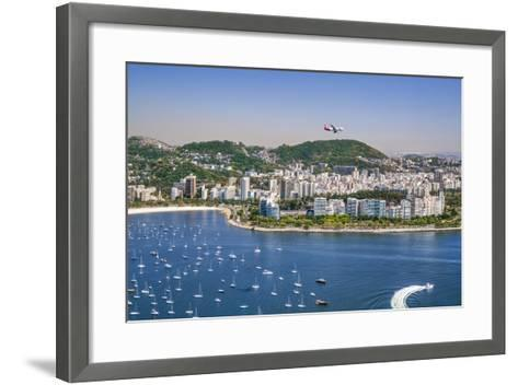 Brazil,Rio De Janeiro. Rio De Janeiro City Viewed from Sugar Loaf Mountain-Nigel Pavitt-Framed Art Print