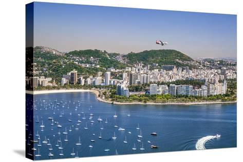 Brazil,Rio De Janeiro. Rio De Janeiro City Viewed from Sugar Loaf Mountain-Nigel Pavitt-Stretched Canvas Print