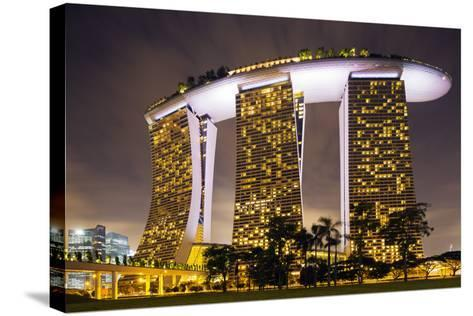 South East Asia, Singapore, South East Asia, Singapore, Marina Bay Sands-Christian Kober-Stretched Canvas Print