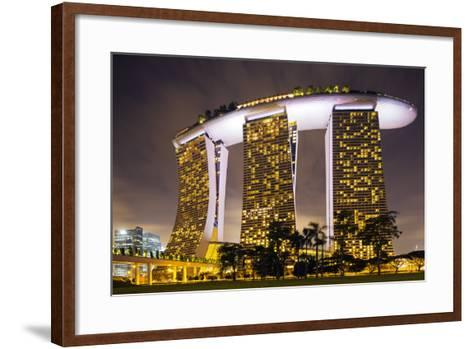 South East Asia, Singapore, South East Asia, Singapore, Marina Bay Sands-Christian Kober-Framed Art Print