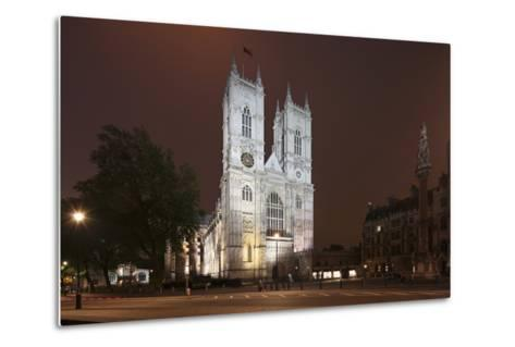 Westminster Abbey in the City of Westminster, London, England-David Bank-Metal Print