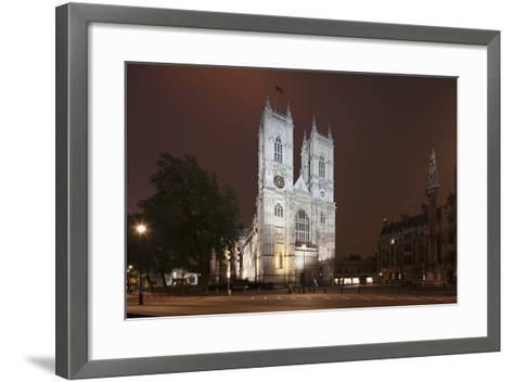 Westminster Abbey in the City of Westminster, London, England-David Bank-Framed Art Print