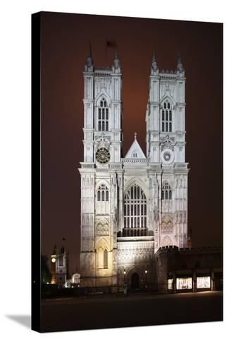 Westminster Abbey in the City of Westminster, London, England-David Bank-Stretched Canvas Print