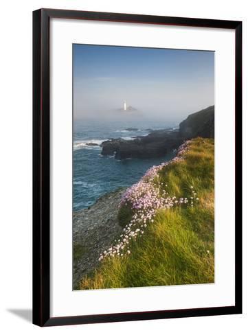 Coastal Cliffs, Godrevy Point, Nr St Ives, Cornwall, England-Paul Harris-Framed Art Print
