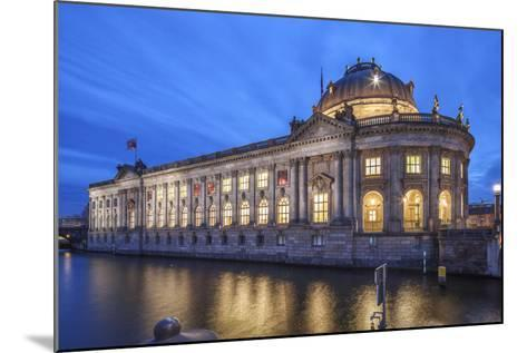 The Bode Museum on the Museum's Island in the Centre of Berlin. the River Spree in the Foreground.-David Bank-Mounted Photographic Print