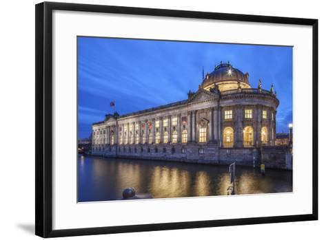 The Bode Museum on the Museum's Island in the Centre of Berlin. the River Spree in the Foreground.-David Bank-Framed Art Print