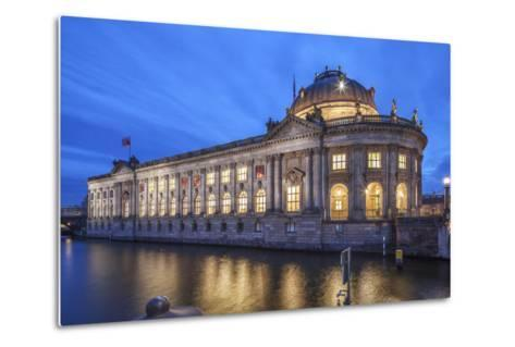 The Bode Museum on the Museum's Island in the Centre of Berlin. the River Spree in the Foreground.-David Bank-Metal Print