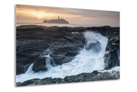 Coastal Cliffs, Godrevy Point, Nr St Ives, Cornwall, England-Paul Harris-Metal Print