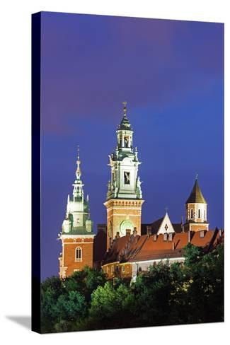 Europe, Poland, Malopolska, Krakow, Wawel Hill Castle and Cathedral, UNESCO Site-Christian Kober-Stretched Canvas Print