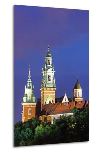 Europe, Poland, Malopolska, Krakow, Wawel Hill Castle and Cathedral, UNESCO Site-Christian Kober-Metal Print