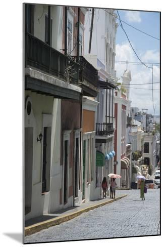 A Street from the City San Juan with the Architectural Design in on the Main Buildings-Natalie Tepper-Mounted Photo