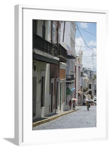 A Street from the City San Juan with the Architectural Design in on the Main Buildings-Natalie Tepper-Framed Art Print
