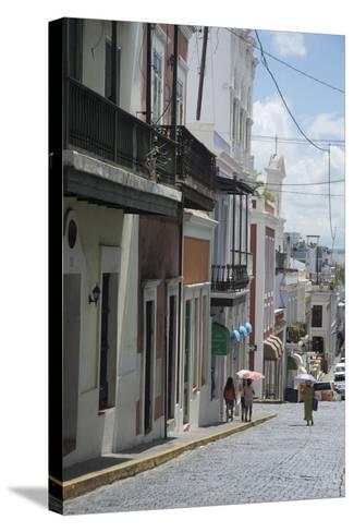A Street from the City San Juan with the Architectural Design in on the Main Buildings-Natalie Tepper-Stretched Canvas Print