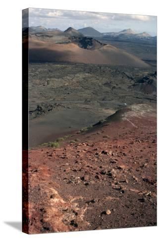 Landscape of the National Park of Timanfaya, Lanzarote, Spain-Natalie Tepper-Stretched Canvas Print