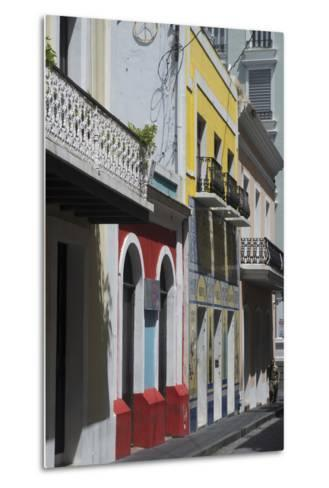 A Street from the City San Juan with the Architectural Design in on the Main Buildings-Natalie Tepper-Metal Print