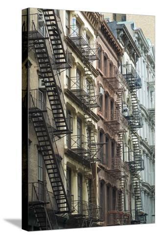 Fire Escapes, Tribeca, New York City, Ny, Usa-Natalie Tepper-Stretched Canvas Print