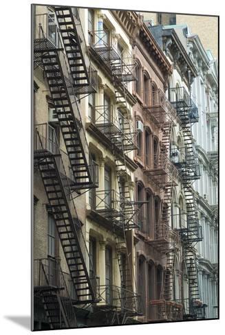 Fire Escapes, Tribeca, New York City, Ny, Usa-Natalie Tepper-Mounted Photo