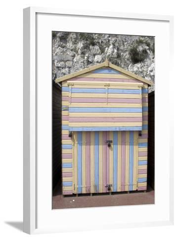 Beach Hut, Stone Bay, Broadstairs, Kent, England-Natalie Tepper-Framed Art Print