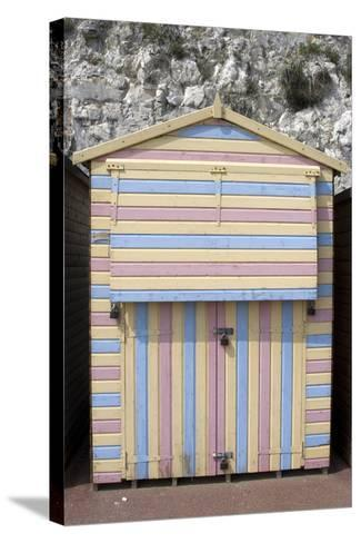 Beach Hut, Stone Bay, Broadstairs, Kent, England-Natalie Tepper-Stretched Canvas Print