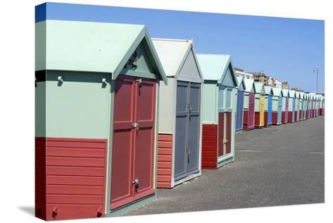 Beach Huts, Hove, Near Brighton, Sussex, England-Natalie Tepper-Stretched Canvas Print
