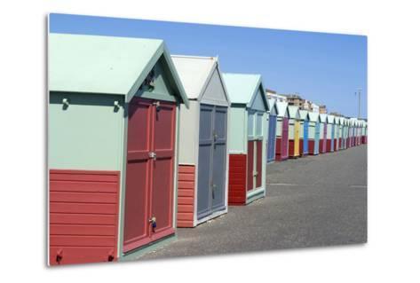 Beach Huts, Hove, Near Brighton, Sussex, England-Natalie Tepper-Metal Print