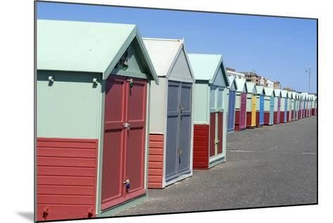 Beach Huts, Hove, Near Brighton, Sussex, England-Natalie Tepper-Mounted Photo