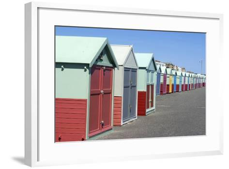 Beach Huts, Hove, Near Brighton, Sussex, England-Natalie Tepper-Framed Art Print